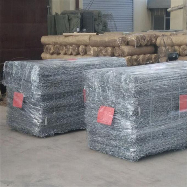 gabion box package with plastic film_副本